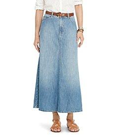Lauren Jeans Co.&Reg; A-Line Denim Skirt