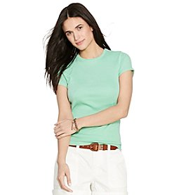 Lauren Jeans Co.® Button-Shoulder Cotton Tee