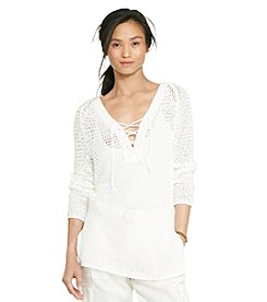 Lauren Jeans Co.® Lace-Up Knit Tunic