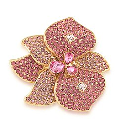 Carolee® Fuchsia Fashionista Pin