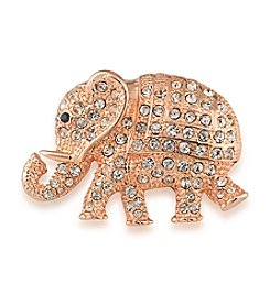 Carolee® Rosy Elephant Pin