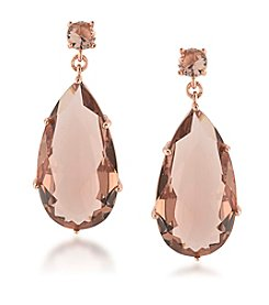 Carolee® Pocket Park Teardrop Pierced Earrings