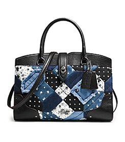COACH MERCER SATCHEL 30 IN CANYON QUILT DENIM