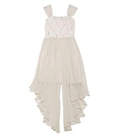 Tween Diva by Rare Editions Girls' 7-16 Sequin Chiffon High-Low Dress