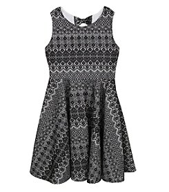 Rare Editions® Girls' 7-16 Bonded Lace Fit And Flare Dress