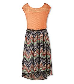 Speechless® Girls' 7-16 Printed High-Low Belted Dress