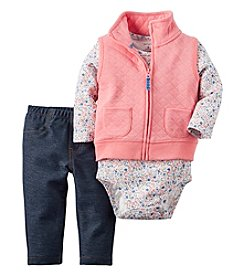 Carter's® Baby Girls' 3-Piece Quilted Vest Set