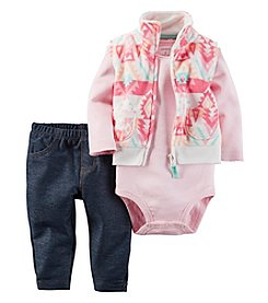 Carter's® Baby Girls' 3-Piece Geo Vest Set