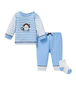 Little Me® Baby Boys' 3-Piece Monkey Joggers Set