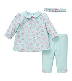 Little Me® Baby Girls' 3-Piece Posies Tunic Set