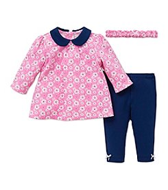 Little Me® Baby Girls' 3-Piece Floral Medallion Tunic Set