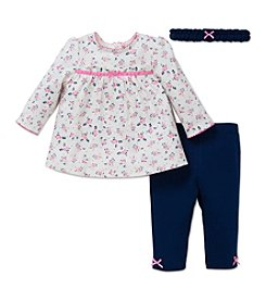 Little Me® Baby Girls' 3-Piece Ditsy Floral Tunic Set