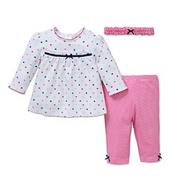 Little Me® Baby Girls' 3-Piece Heart Tunic Set