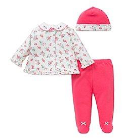Little Me® Baby Girls' 3-Piece Camellia Rose Set