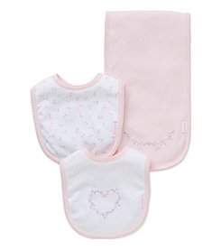 Little Me® Baby Girls' Floral Bib And Burp Cloth Set