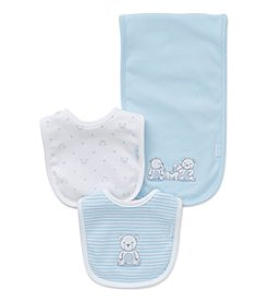 Little Me® Baby Boys Friends Bib And Burp Cloth Set