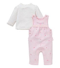 Little Me® Baby Girls' 2-Piece Dainty Rose Overall Set