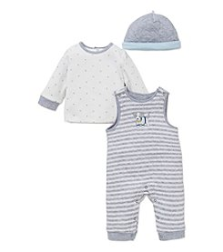 Little Me® Baby Boys 3-Piece Puppy Time Overall Set
