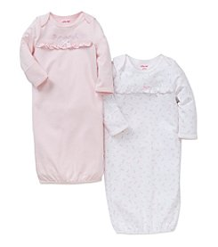 Little Me® Baby Girls' 2-Pack Blooms Gown Set