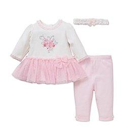 Little Me® Baby Girls' 3-Piece Posies Bouquet Dress Set
