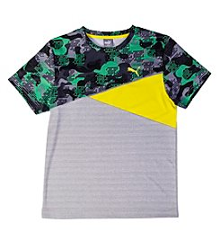 PUMA® Boys' 8-20 Short Sleeve Cut Up Active Tee