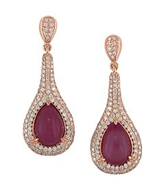 Effy® Ruby Royale Collection 1.99 ct. tw. Diamond and Ruby Drop Earrings in 14k Yellow Gold