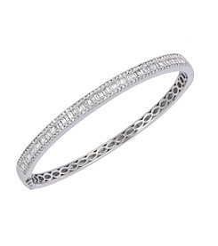 Effy® Classique Collection 1.81 ct. tw. Diamond Bangle in 14K White Gold
