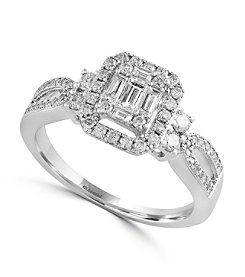 Effy® Classique Collection 0.57 ct. tw. Diamond Ring in 14K White Gold