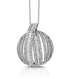 Effy® Classique Collection 0.85 ct. tw. Diamond Pendant in 14k White Gold