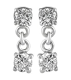 Effy® Bouquet Collection 0.49 ct. tw. Diamond Drop Earrings in 14K White Gold
