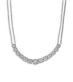 Effy® Bouquet Collection 2.15 ct. tw. Diamond Necklace in 14k White Gold