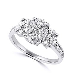 Effy® Bouquet Collection 1.30 ct. tw. Diamond Ring in 14K White Gold