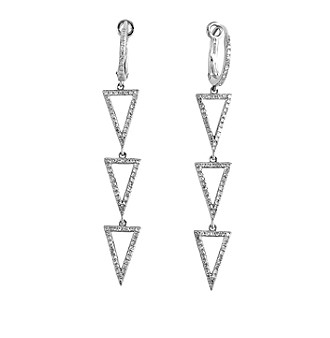Effy® Geo Collection 0.55 ct. tw. Diamond Drop Earrings in 14K White Gold