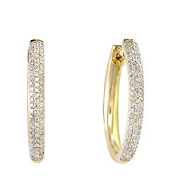 Effy® D'Oro Collection 0.45 ct. tw. Diamond Hoop Earrings in 14K Yellow Gold