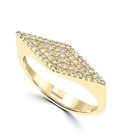 Effy® D'Oro Collection 0.24 ct. tw. Diamond Ring in 14K Yellow Gold
