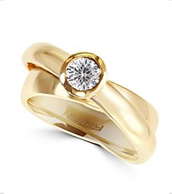 Effy® D'Oro Collection 0.39 ct. tw. Diamond Ring in 14K Yellow Gold