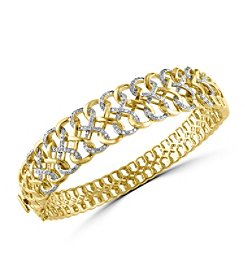 Effy® D'Oro Collection 0.81 ct. tw. Diamond Bangle in 14K Yellow Gold