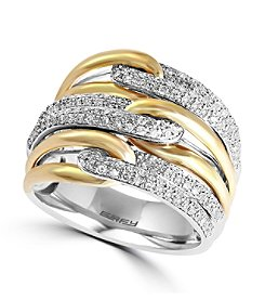 Effy® Duo Collection .65 Diamond Ring in 14K White and Yellow Gold