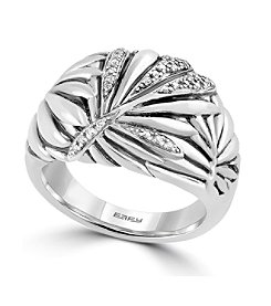 Effy® 925 Collection Sterling Silver Ring with 0.13 ct. tw. Diamond Accents