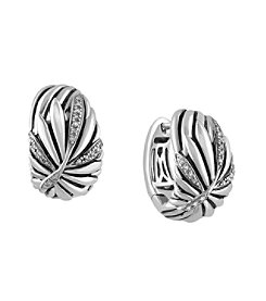 Effy® 925 Collection Sterling Silver Earrings with 0.15 ct. tw. Diamond Accents