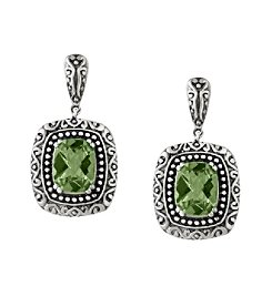 Effy® 925 Collection Sterling Silver Green Amethyst Earrings
