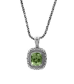 Effy® 925 Collection Sterling Silver Green Amethyst Pendant