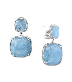 Effy® 925 Collection Sterling Silver Milky Aquamarine Earrings