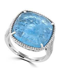 Effy® 925 Collection Sterling Silver Milky Aquamarine Ring