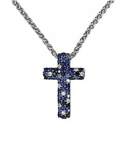 Effy® 925 Collection Sterling Silver Shades of Sapphire Pendant