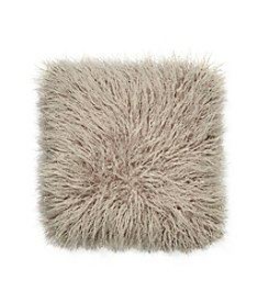 Jessica Simpson Grey Wanderlust Faux Shearling Decorative Pillow
