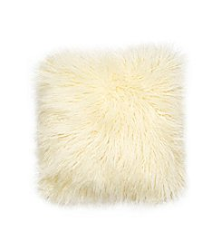 Jessica Simpson Ivory Wanderlust Faux Shearling Decorative Pillow