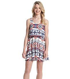 Eyeshadow® Printed Blouson Dress
