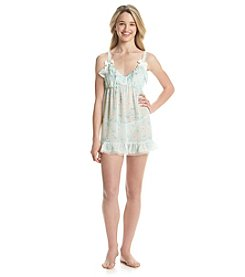 Flora Nikrooz Printed Imagine Babydoll Set