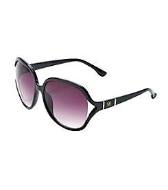 Jessica Simpson Vented Oval Glam Sunglasses